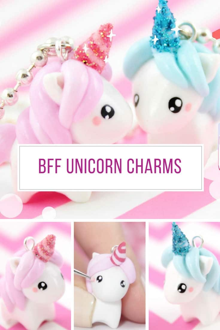 Loving these unicorn charms made from polymer clay! Thanks for sharing!