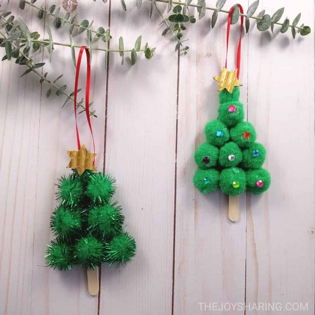 Pom-Pom Christmas Tree Ornament