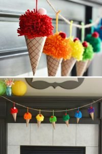 Loving this ice cream cone pompom garland! Thanks for sharing!