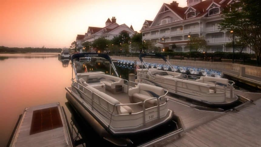 Rent a pontoon at Disney World