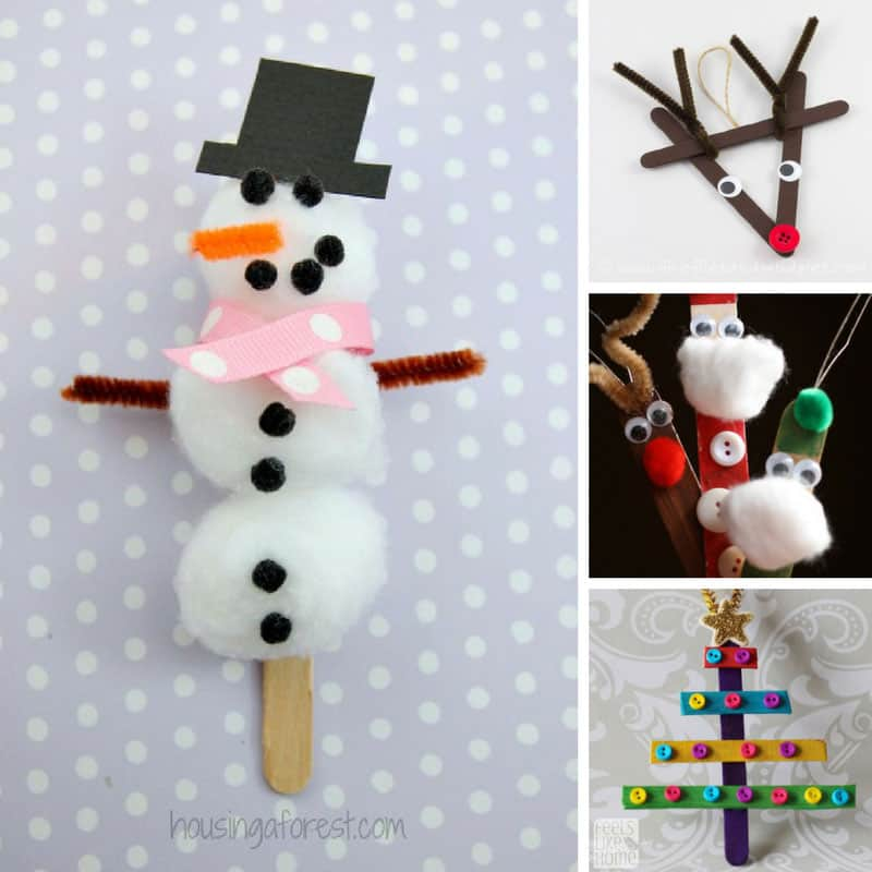 Who knew there were so many wonderful homemade Christmas decorations for kids to make using something as simple as a craft stick!