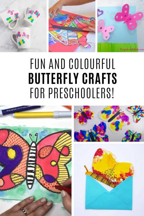 These preschool butterfly crafts are BEAUTIFUL!