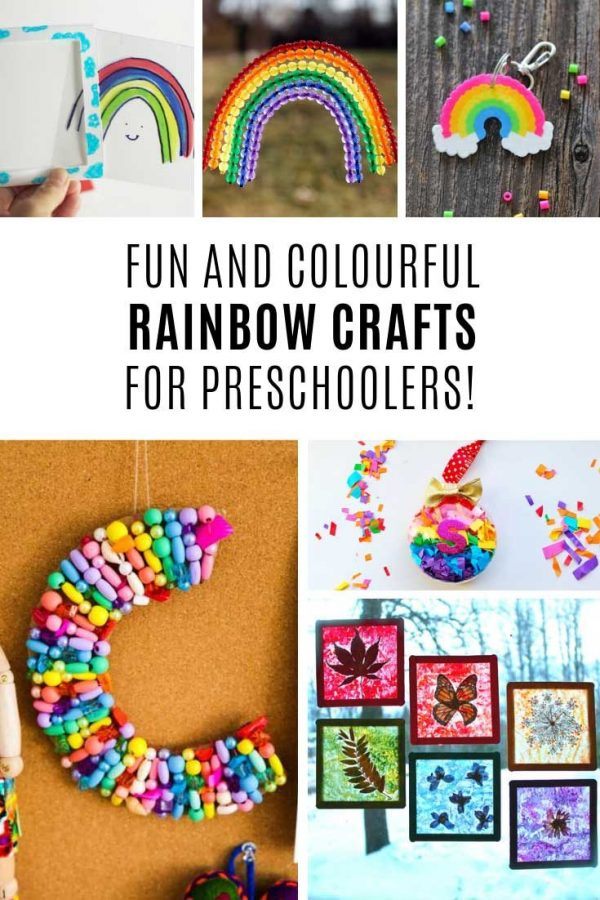 These preschool rainbow crafts are so colorful!