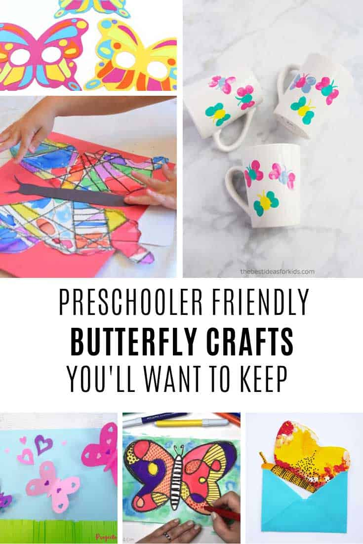 These prechooler butterfly crafts are absolute keepers!
