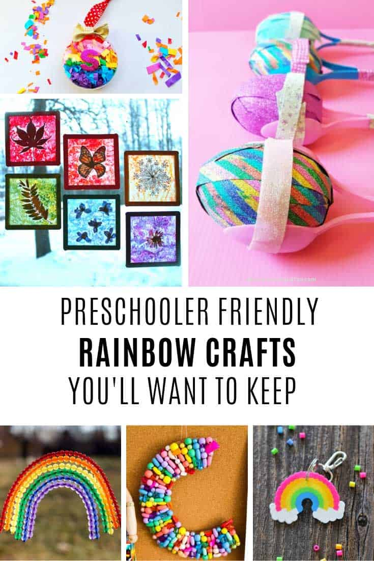 Loving these preschooler rainbow crafts - so fun!
