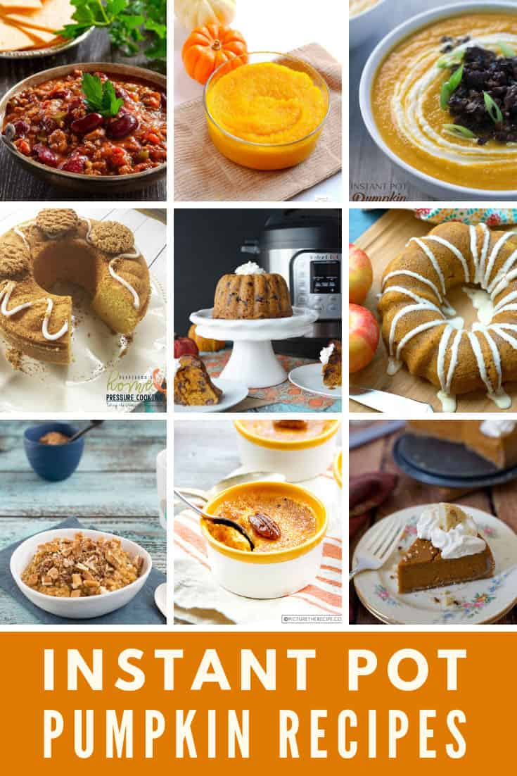 Pressure Cooker Instant Pot Pumpkin Recipes