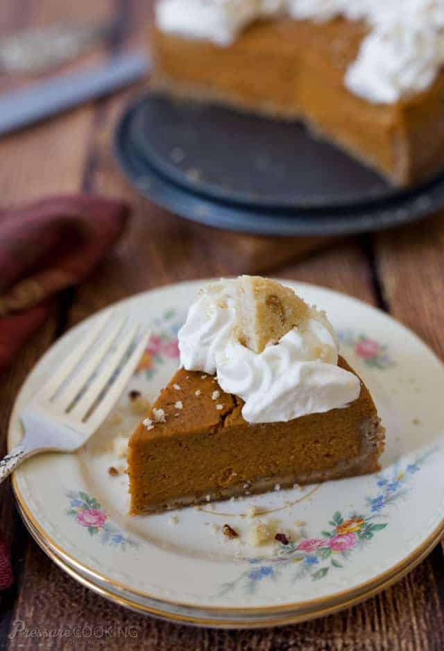 Pressure Cooker Pumpkin Pie Instant Pot