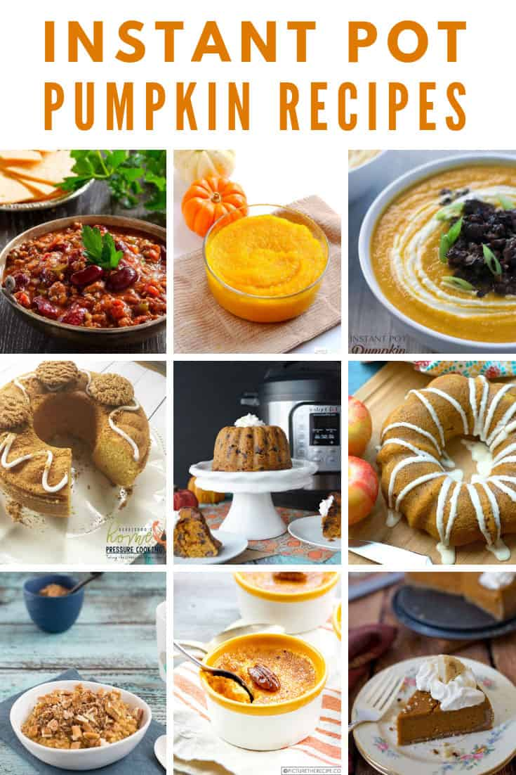 Pressure Cooker Pumpkin Recipes