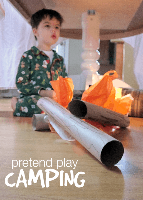 Pretend Play Camping Activities for Toddlers