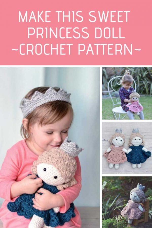 Oh how sweet is this princess doll! Adding this crochet pattern to my list!