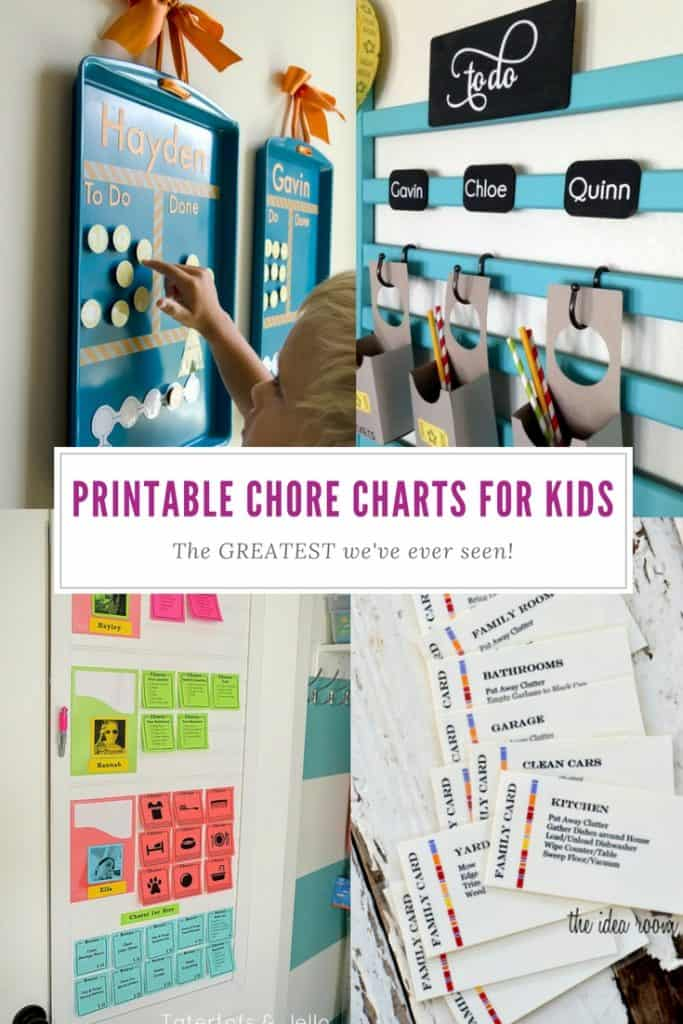 Printable Chore Charts for Kids | Family | Homemaking | Chores | Templates