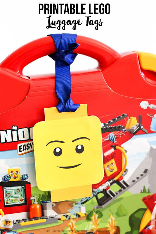 Printable LEGO Luggage Tags