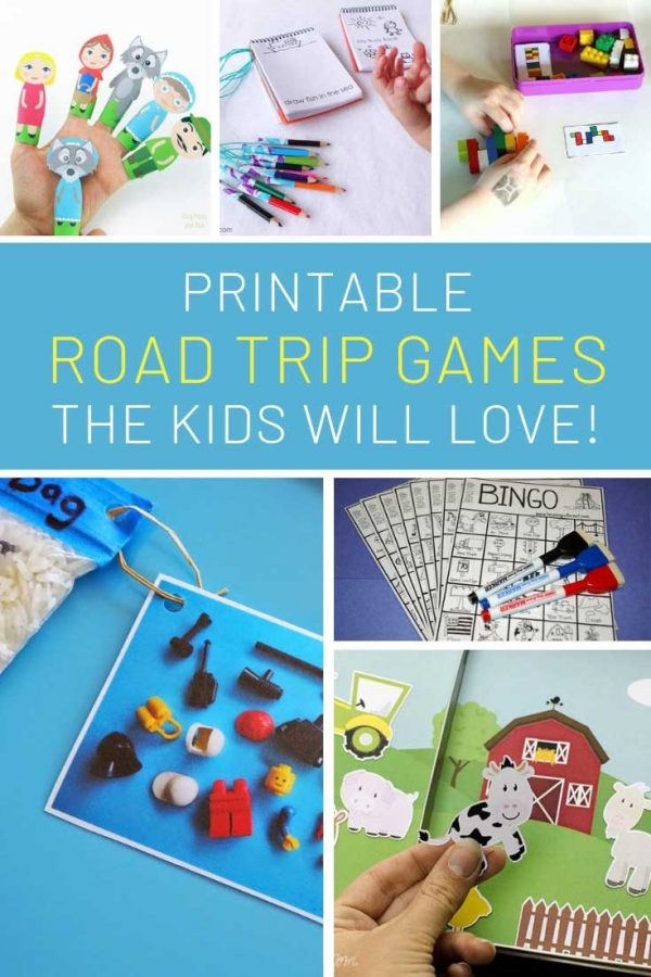 These printable road trip games are super fun!