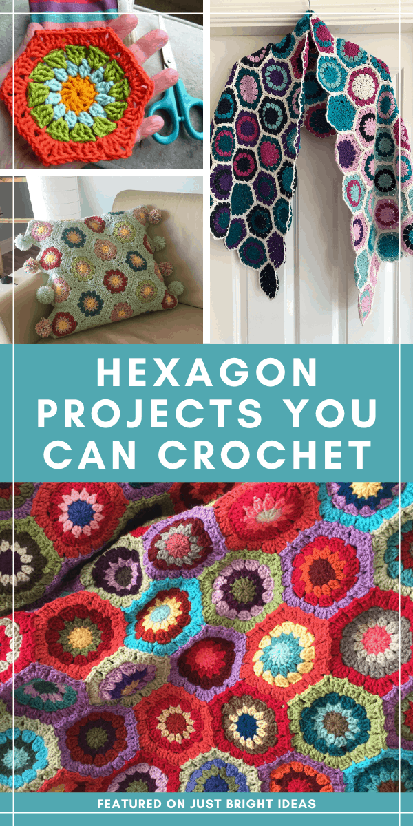 Have you ever crocheted a hexagon before? This free pattern is super easy to follow and you can make fun projects like shawls and tote bags!