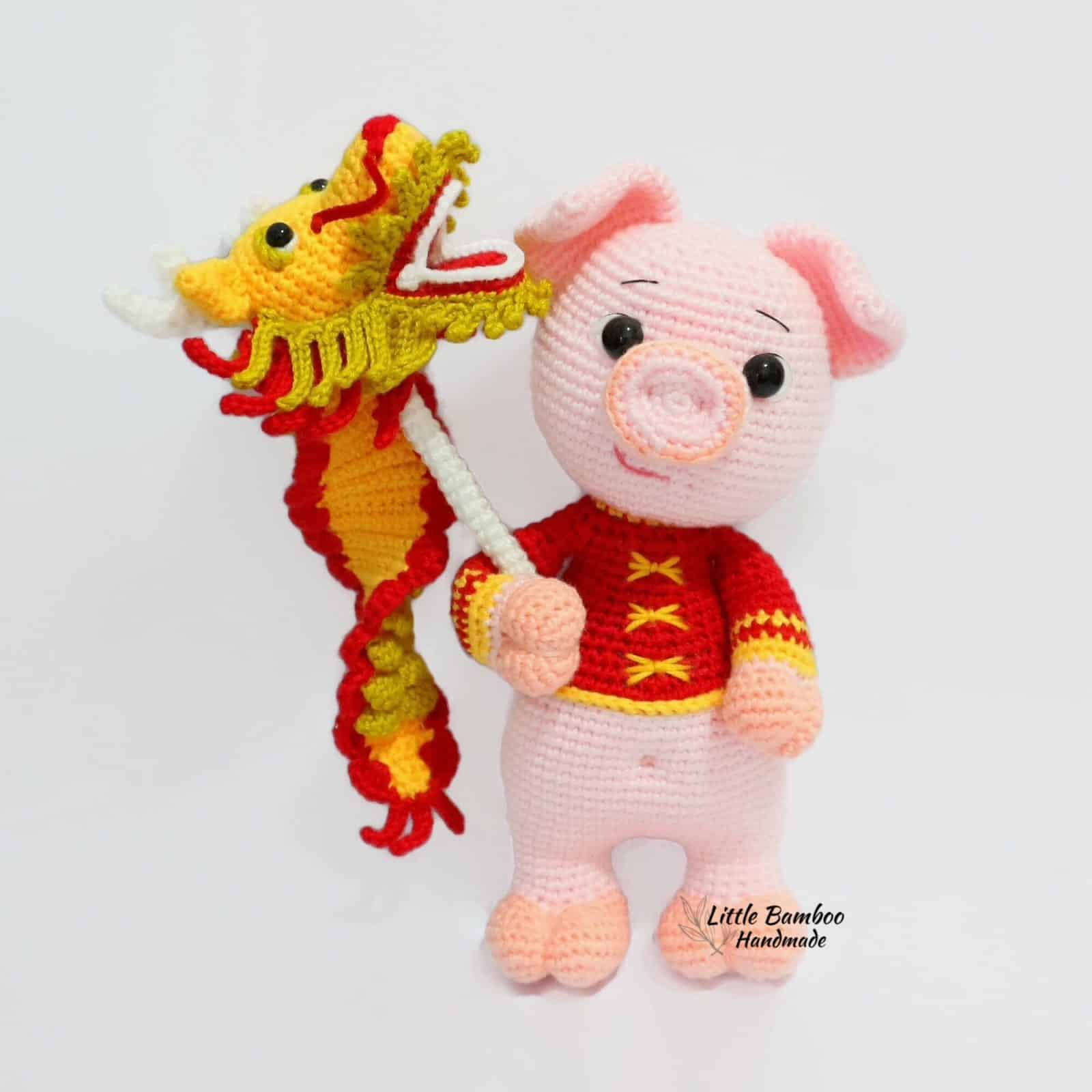 Prosperity Pig and Dragon Dance Puppet