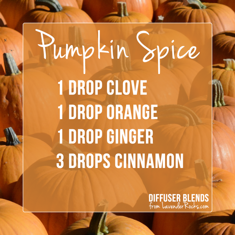 Pumpkin Spice - for more Fall diffuser blends visit justbrightideas.com