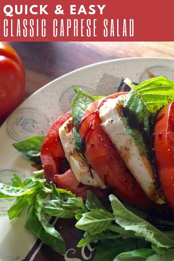 It's hard to beat the classic flavour combination of fresh tomatoes, mozzarella, and basil in this Classic Caprese Salad. But this version of that classic salad takes things to a whole new level by adding a rich and syrupy balsamic glaze in the place of the regular vinegar dressing.