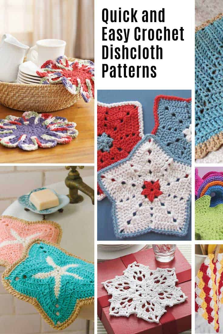So many quick and easy crochet dishcloth patterns!