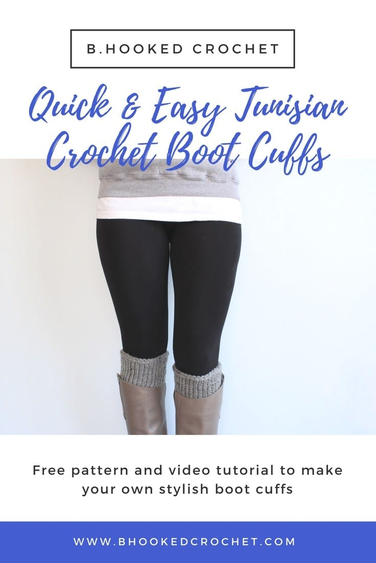Quick and Easy Tunisian Crochet Boot Cuff Pattern