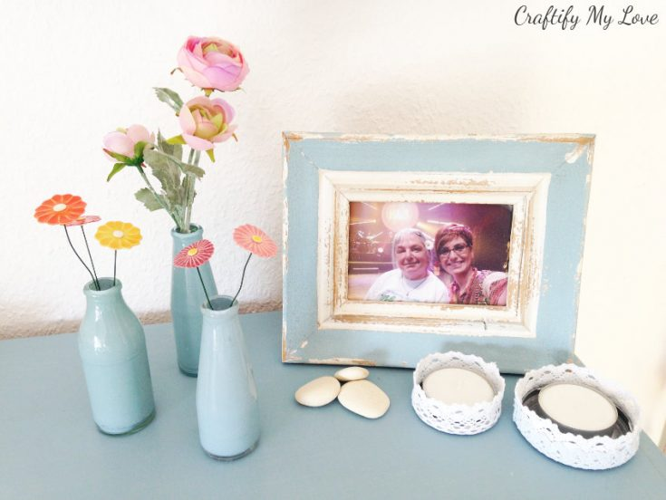 DIY Upcycled Painted Glass Bottles