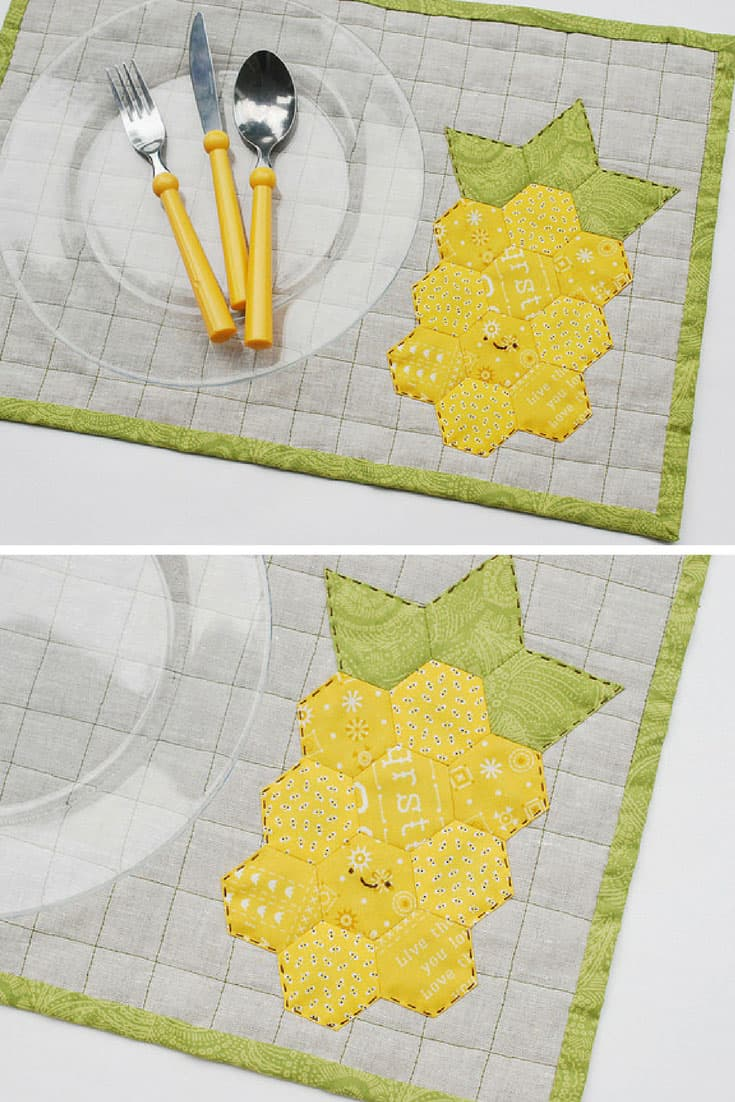Quilted Pineapple Placemat