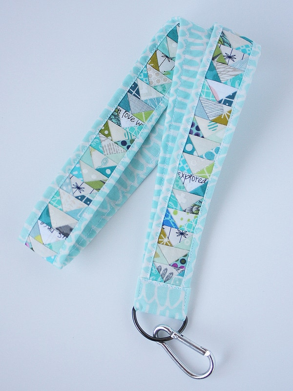 Quilted Lanyard with Pattern