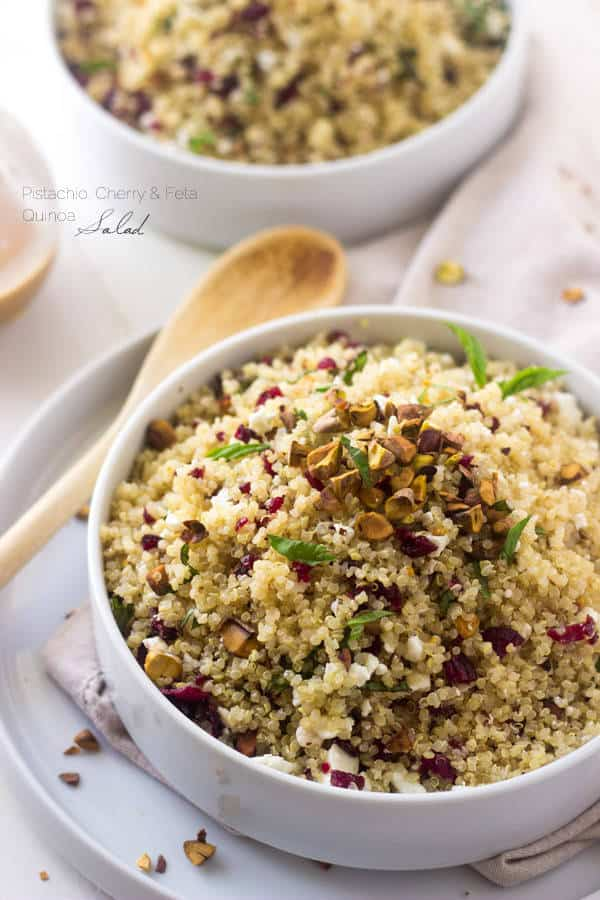 Quinoa Salad with Pistachios and Cherries
