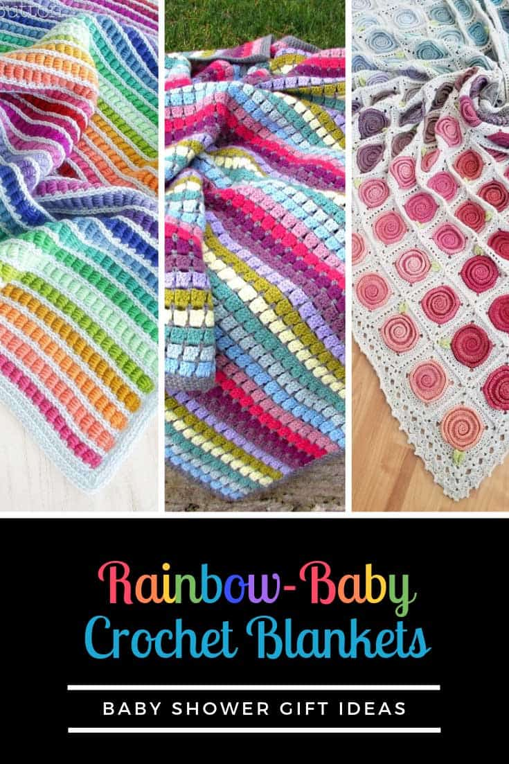 Rainbow babies are extra special because they are  born shortly after a losing another baby. The rainbow symbolises hope after a storm. If your friend is expecting a rainbow baby then any one of these blankets would make a beautiful baby shower gift that she will treasure forever.