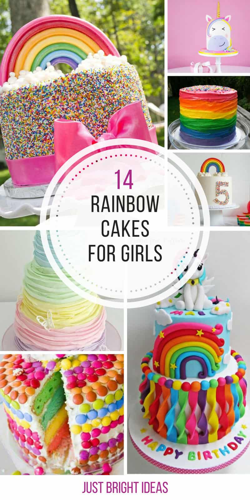 14 Totally Magical Rainbow Birthday Cakes for Girls
