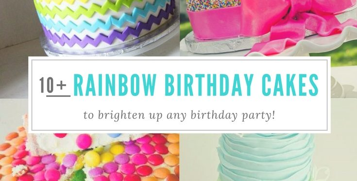 Rainbow Birthday Cakes | Girls | Boys | Ombre | Frosting