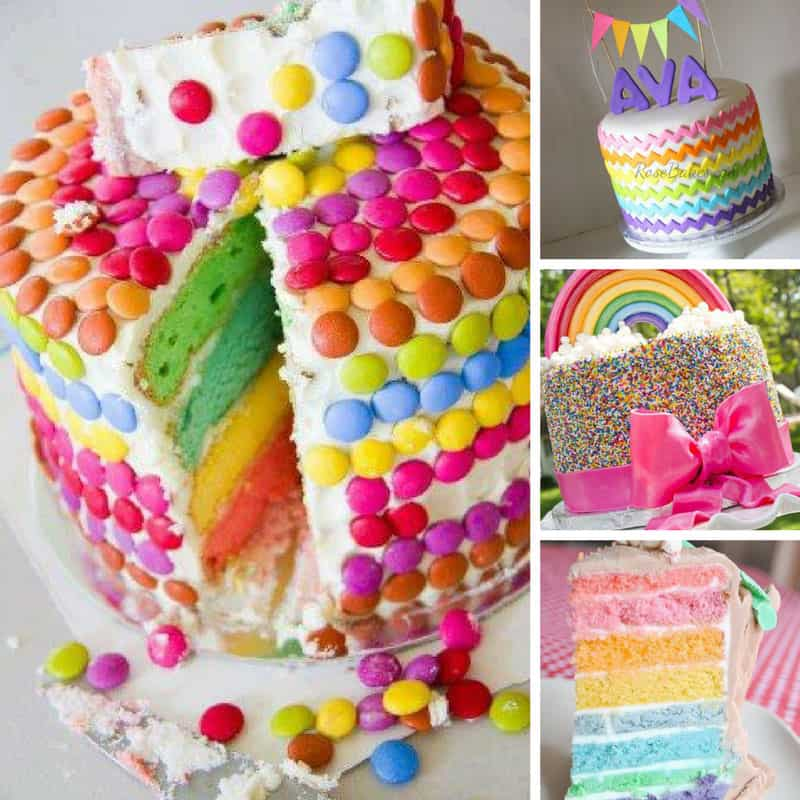 Admirable 14 Totally Magical Rainbow Birthday Cakes For Girls Funny Birthday Cards Online Fluifree Goldxyz