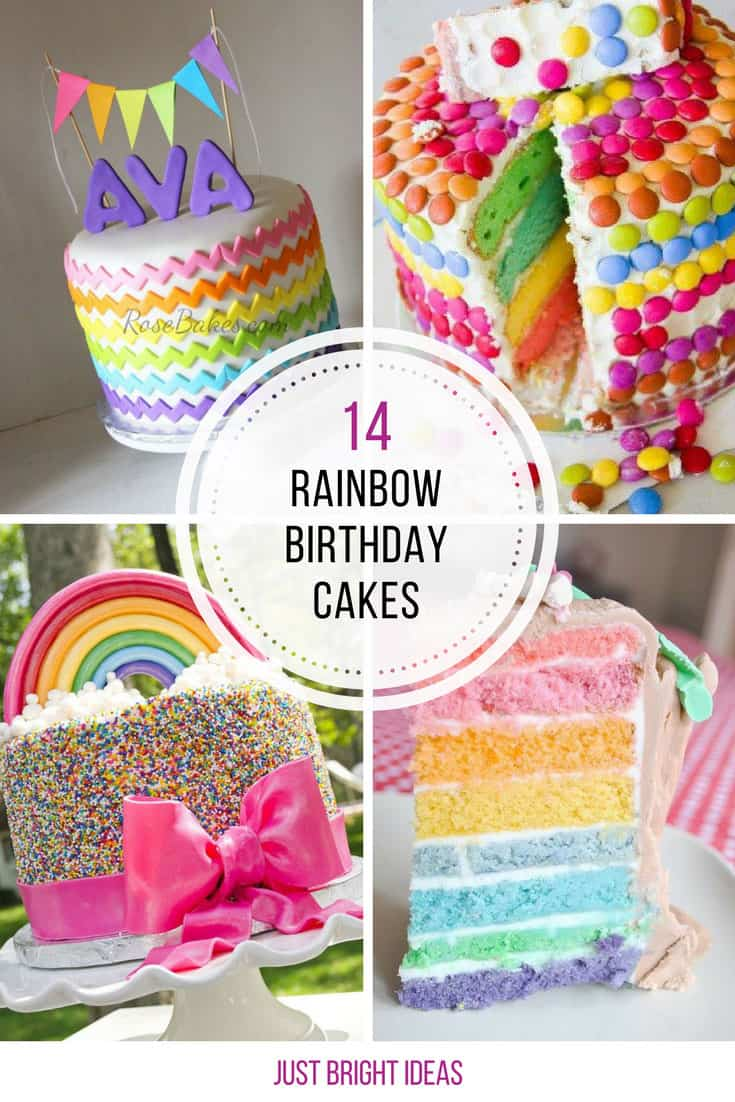 These rainbow birthday cakes for girls are gorgeous! Thanks for sharing!