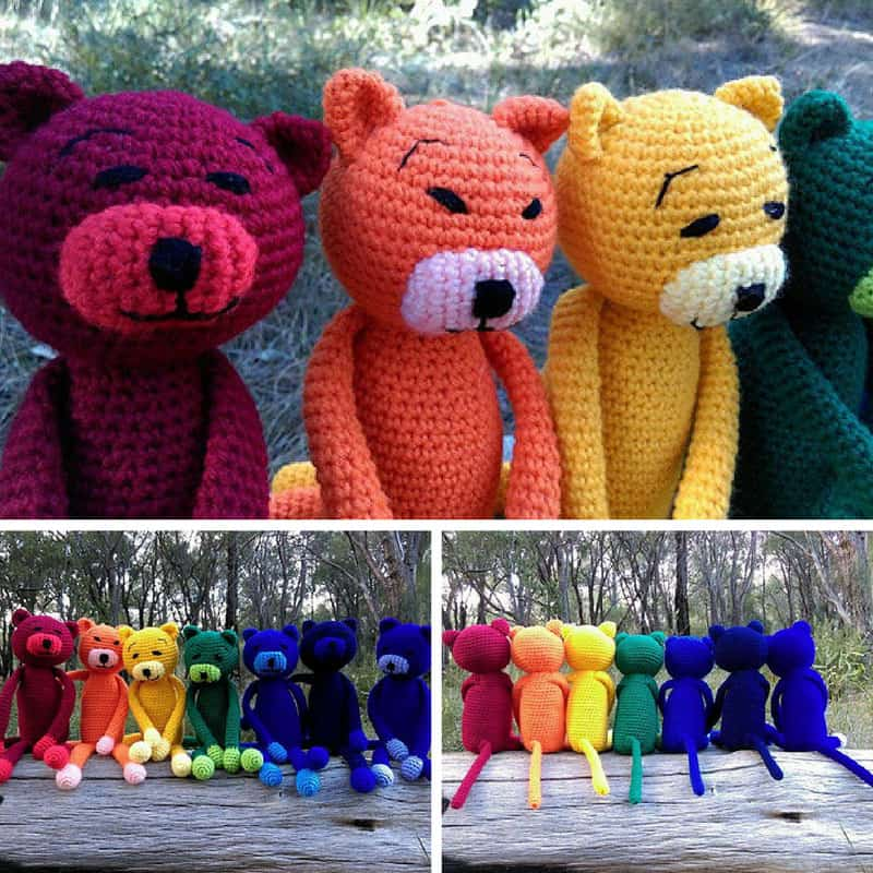 These rainbow amineko cats are adorable! Thanks for sharing!