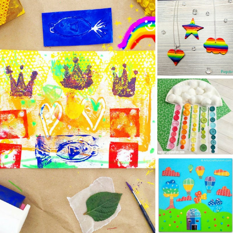 10 Brightly Coloured Rainbow Crafts for Kids