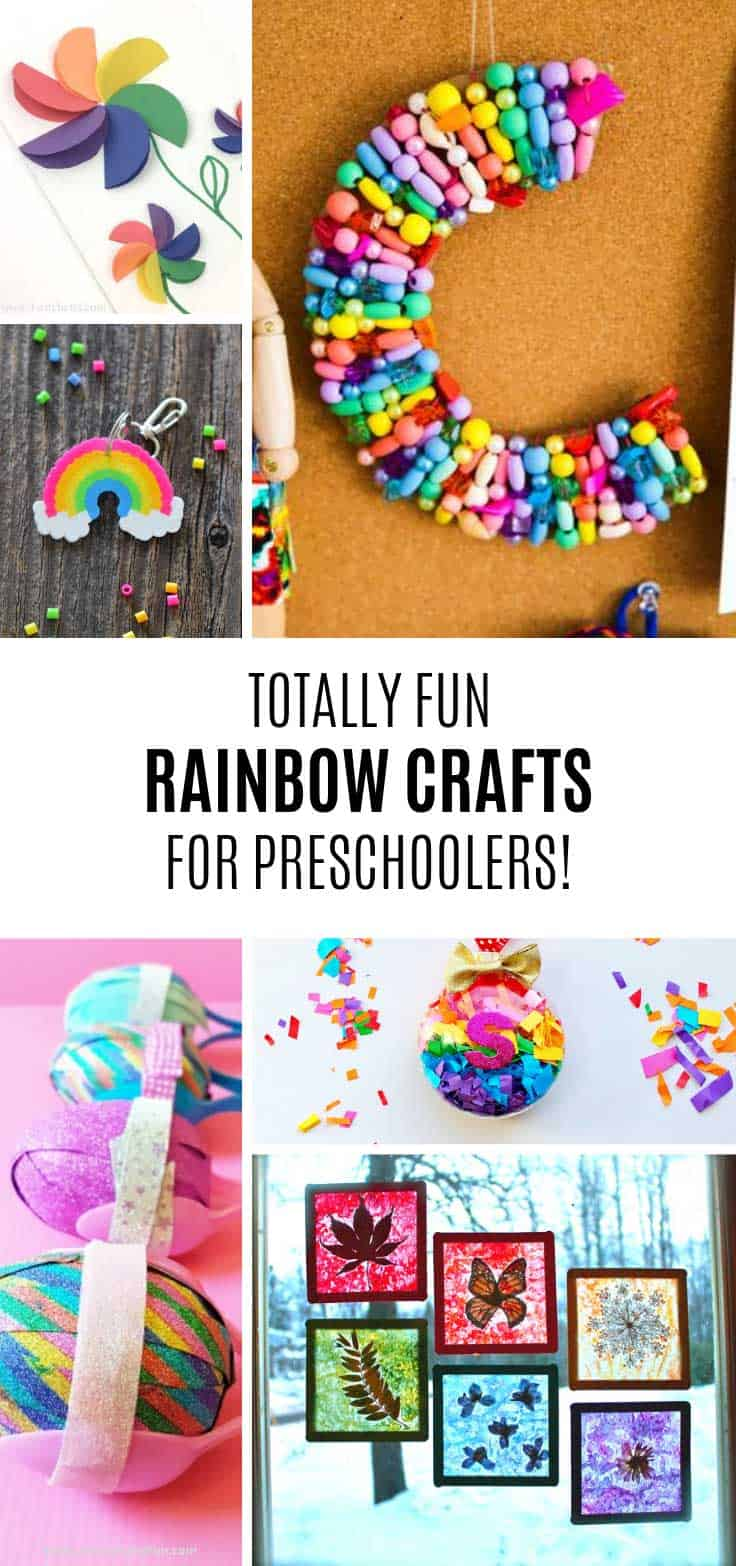 These rainbow crafts for preschoolers are bright and colourful!