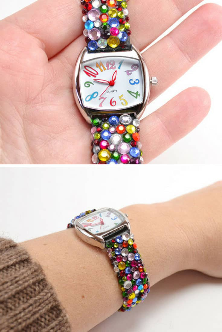 Rainbow Crystal Watch Band