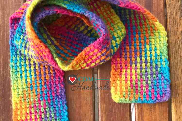 Rainbow Scarf Planned Pooling Crochet Pattern