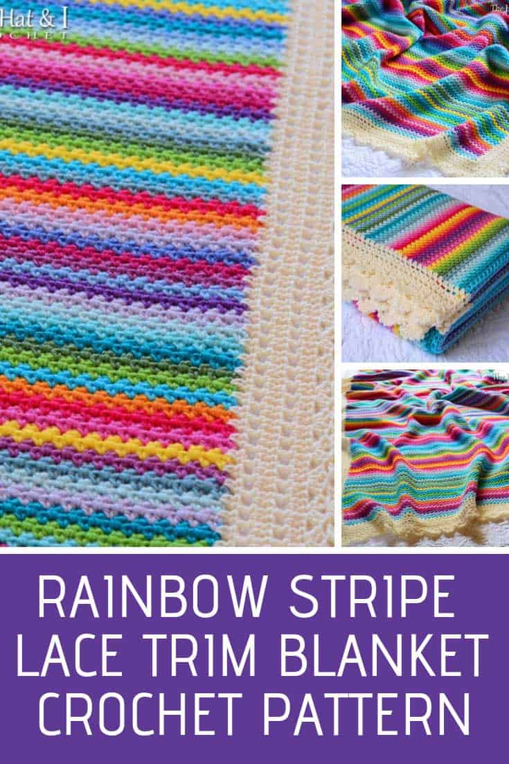 This gorgeous striped crochet blanket would make a fabulous gift for a grandchild!