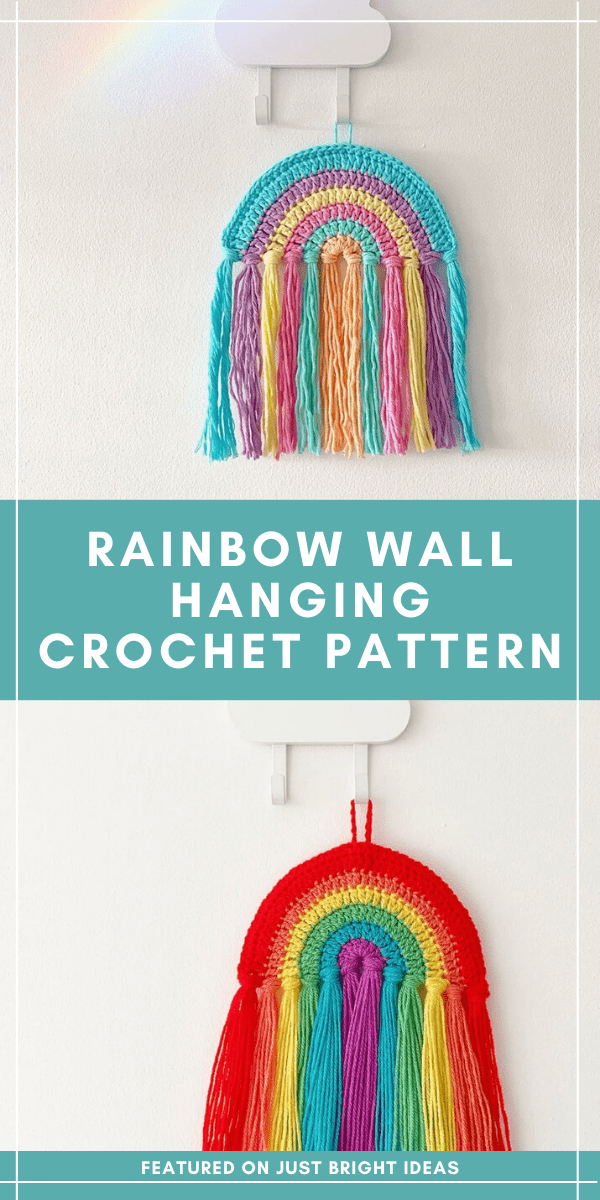 Hang this fabulous rainbow on your wall or in your window to make you smile - the crochet pattern is easy to follow