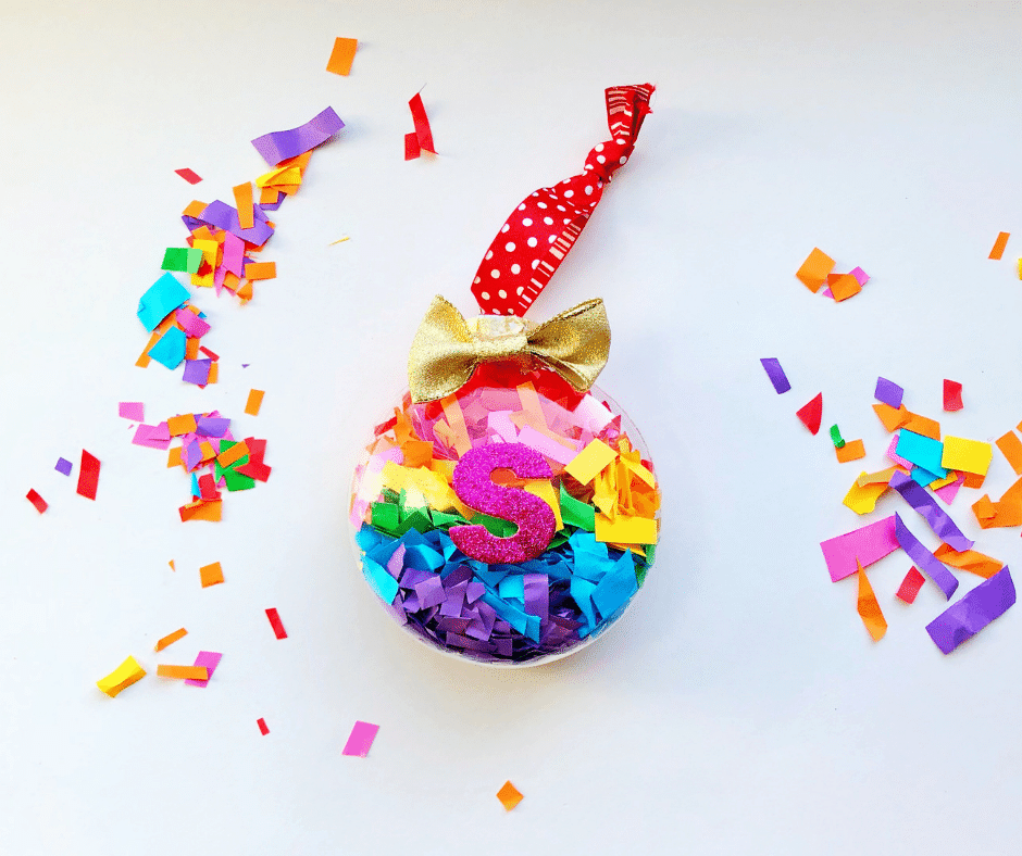 Rainbow Confetti Ornament