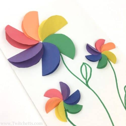 Easy Rainbow Paper Flowers