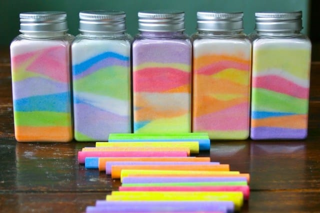 Rainbow in a Jar Craft