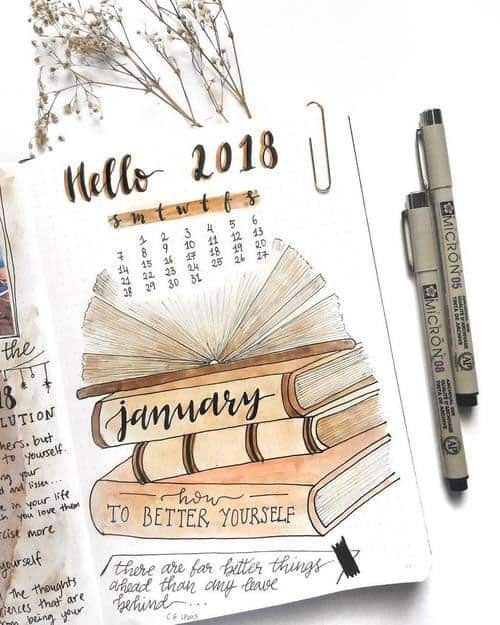 Reading Books January Cover Page