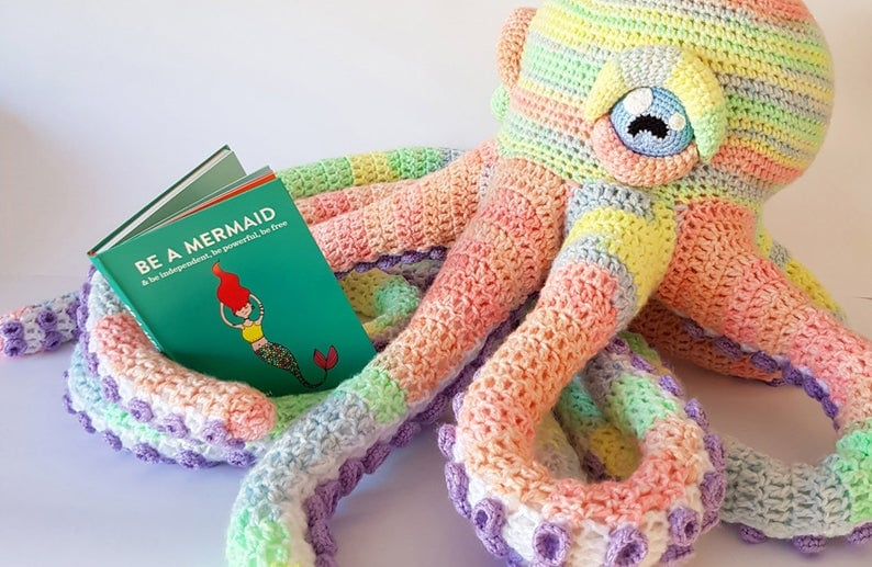Make this giant octopus as a reading buddy for your child