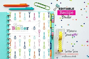 This recipe binder will make meal planning simple