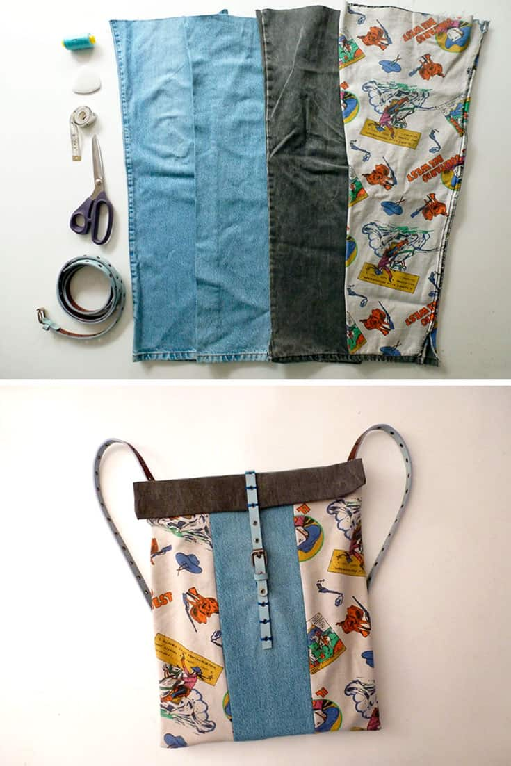 Recycle Old Jeans into a Backpack