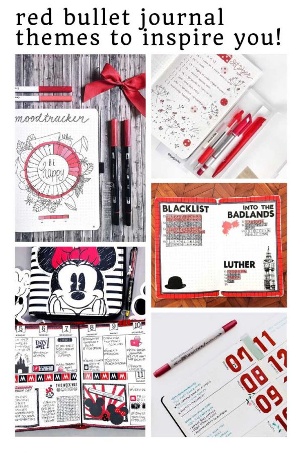 LOVING these red bullet journal themes - so many great ideas here!