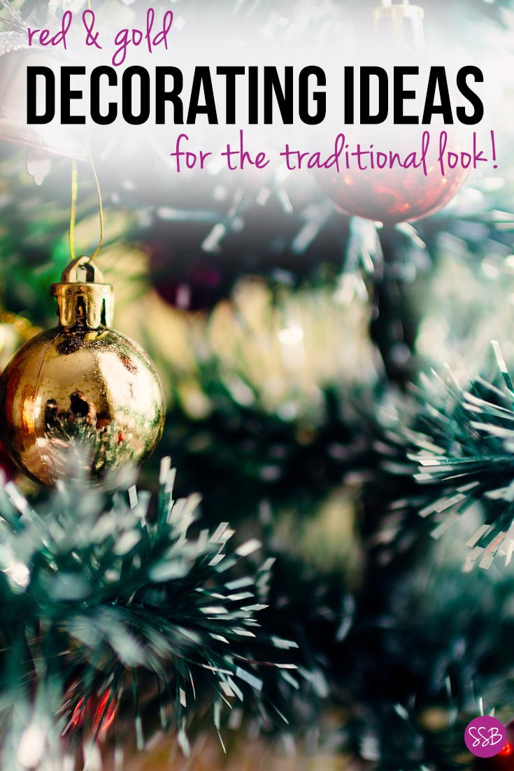 Fabulous red and gold Christmas decorating ideas to give your home the traditional look this festive season. From trees to mantels and even dining tables!
