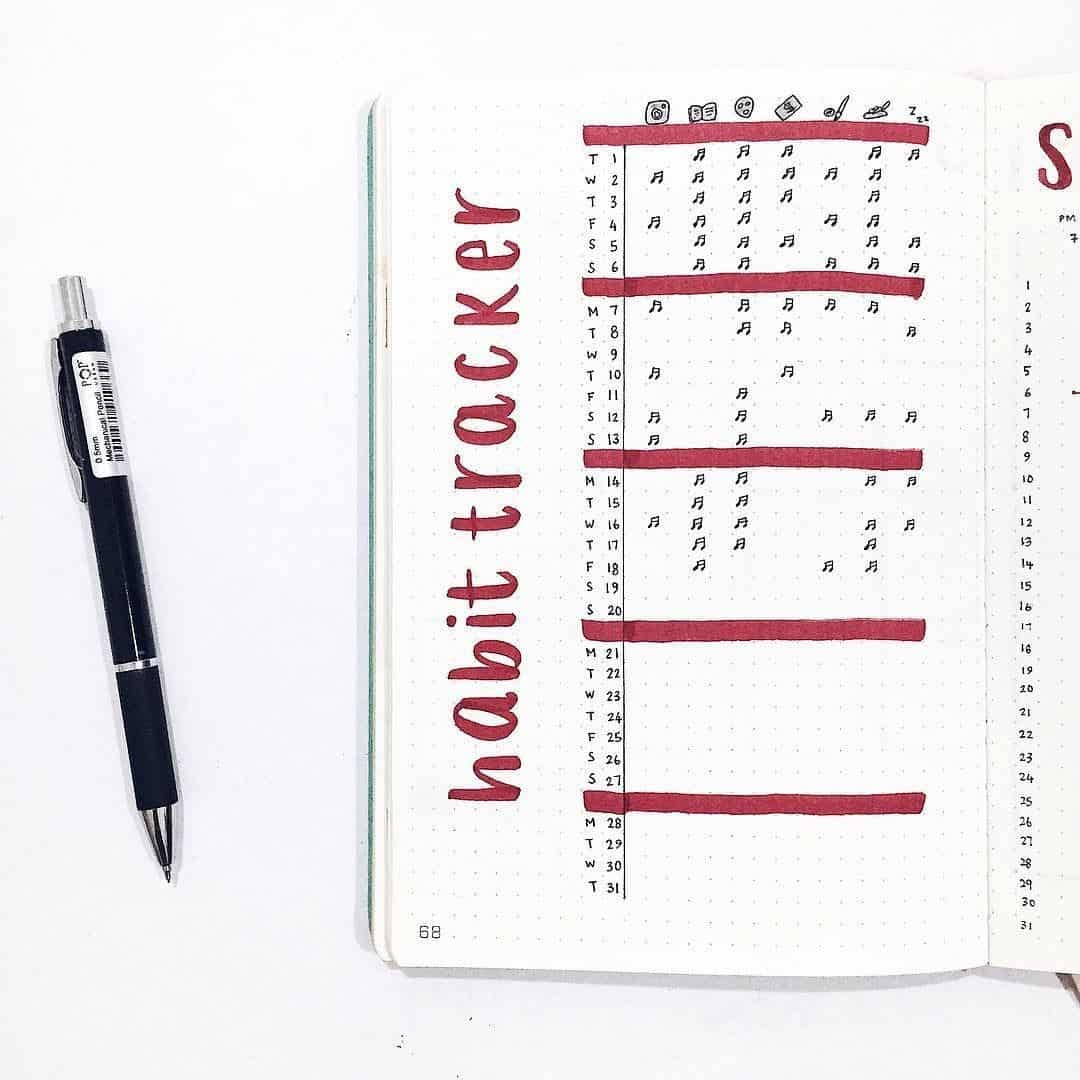 Red Habit Tracker
