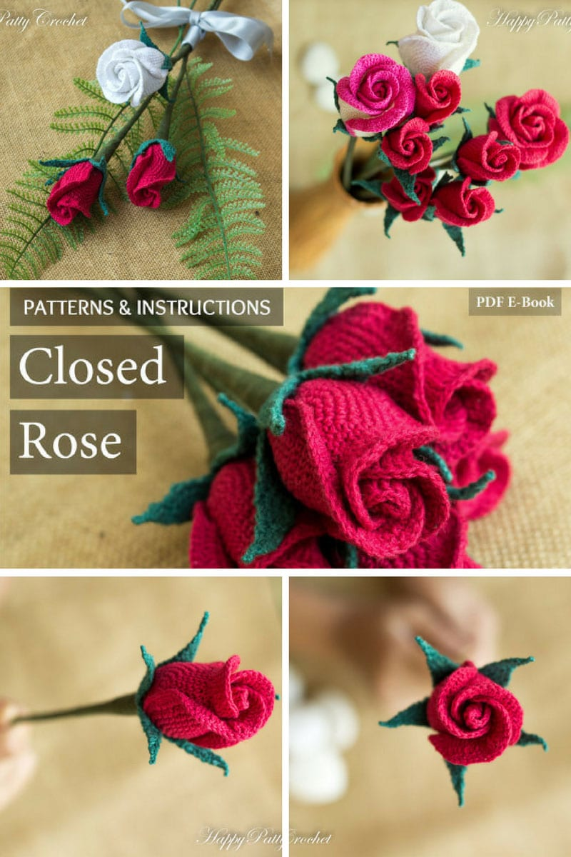 Red Rose Crochet Pattern - Pinterest